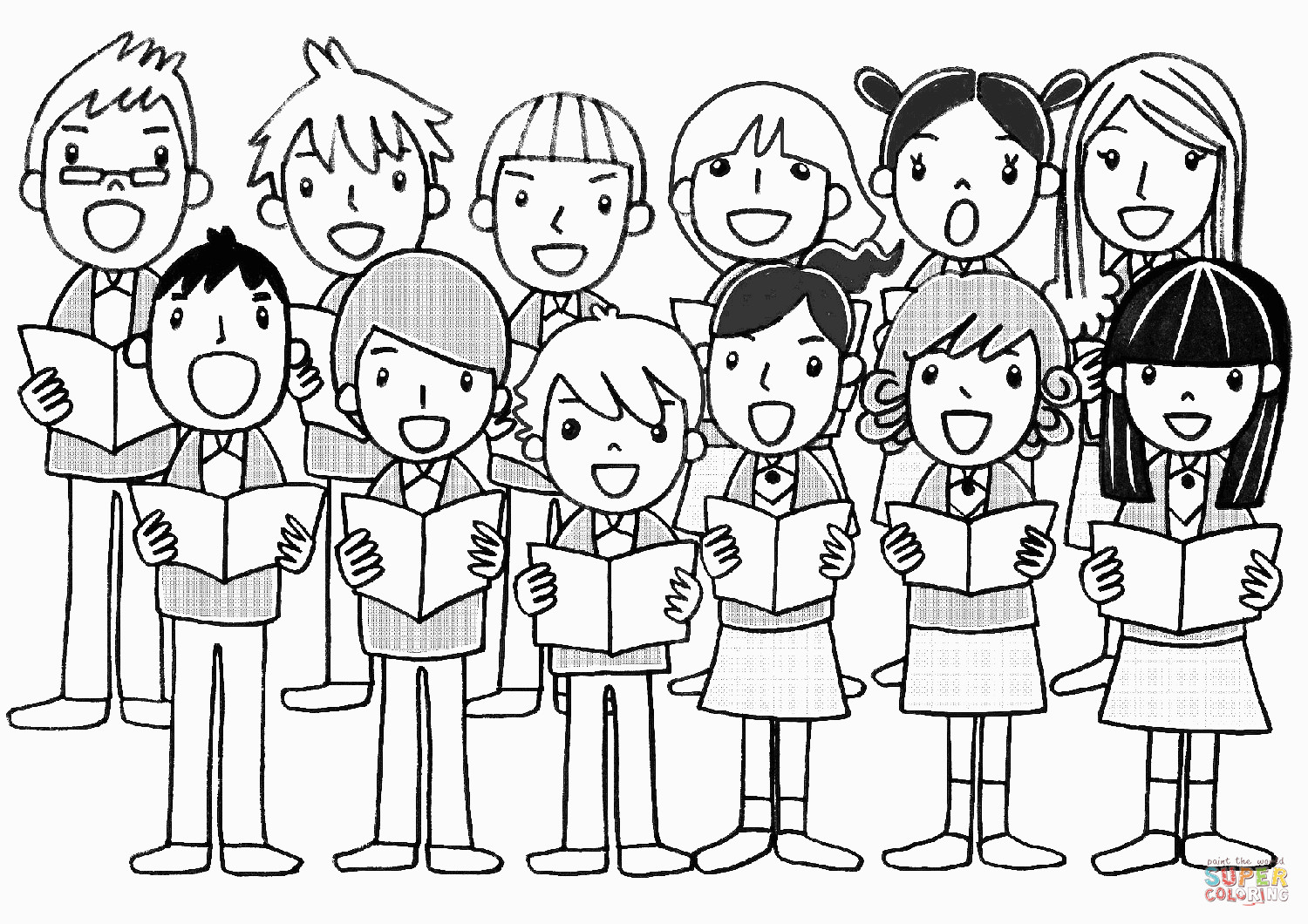 Coloriage Chorale Children S Chorus Coloring Page