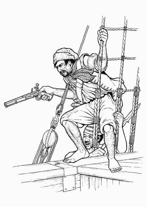 Coloriage Pistolet Pirate Coloriage Pirate Abordage