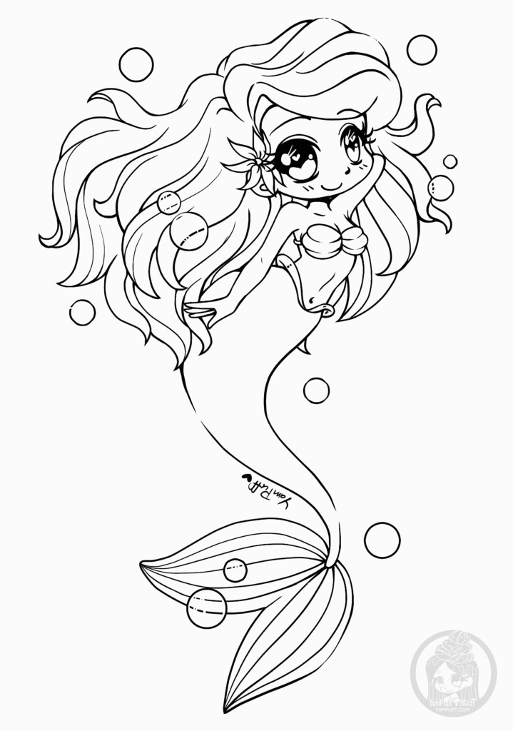 Coloriage Sirène Manga A Imprimer Pin On Coloriage Personnage Chibi Et Manga Adult Coloring Page