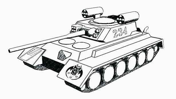 Coloriage World Of Tank New Medium Size World Of Tanks Coloring Pages Interesting