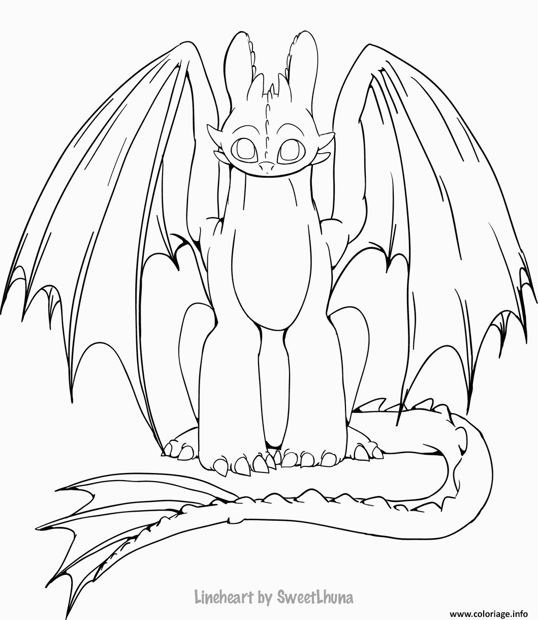 dragons 3 coloriage