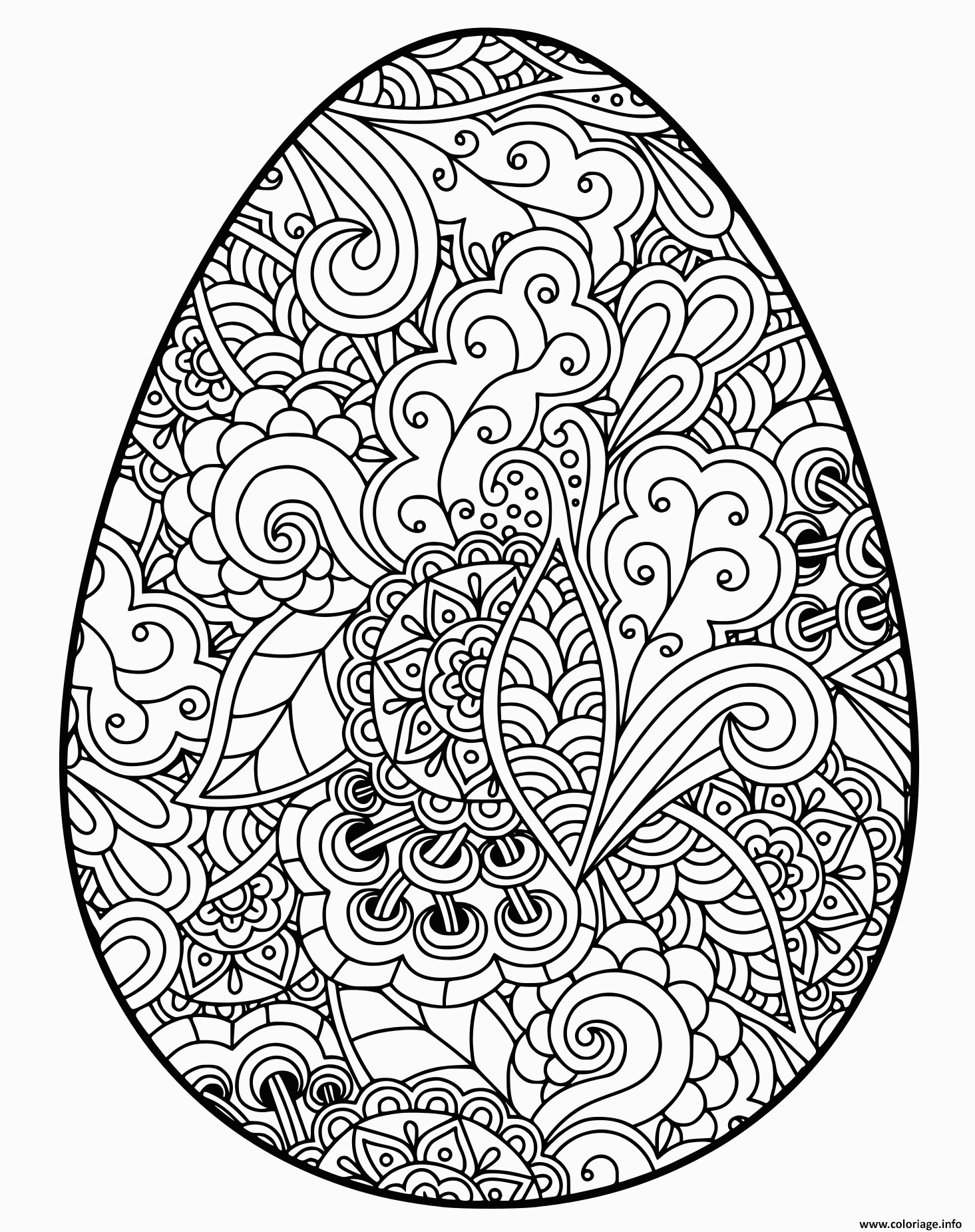 easter egg oeuf paque adulte coloriage