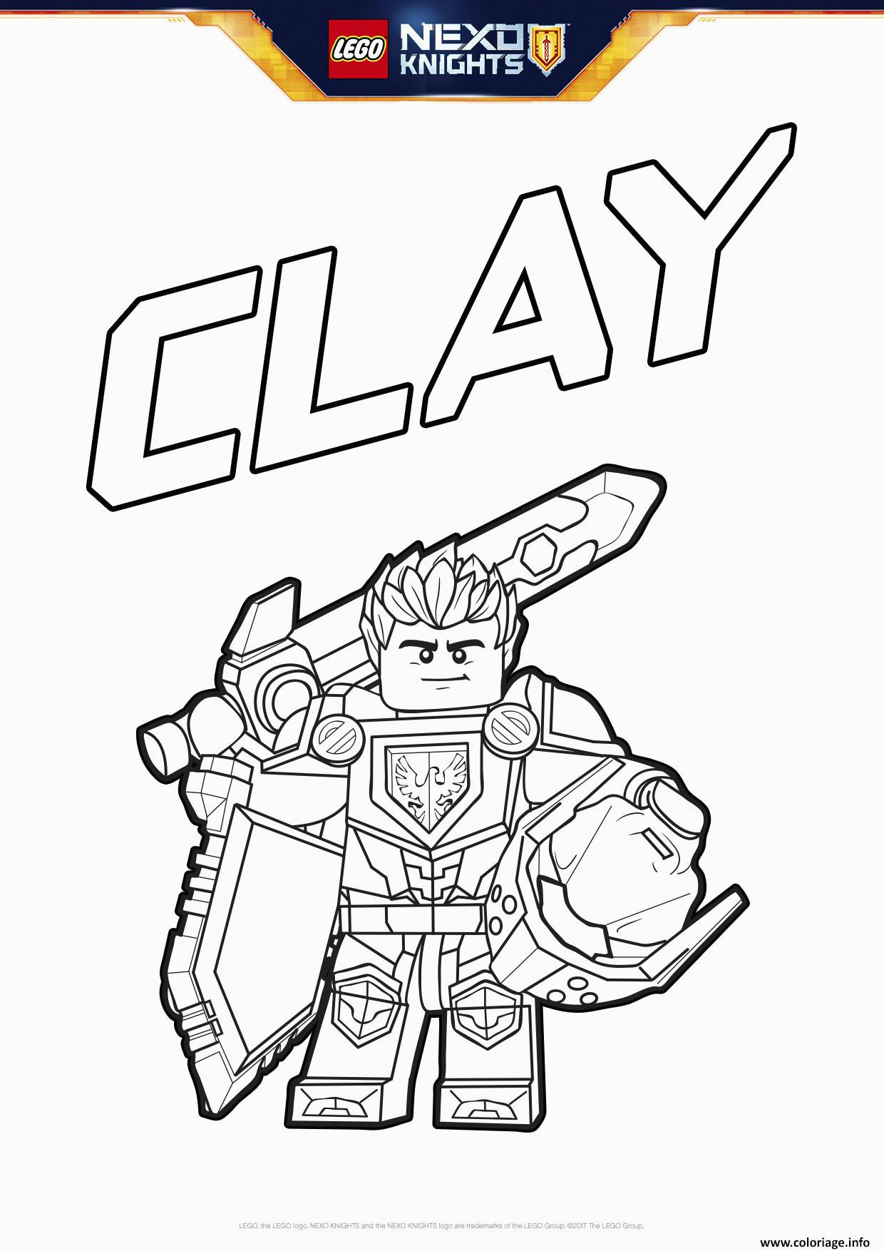 Coloriage Lego Nexo Knights Coloriage Lego Nexo Knights Bouclier Clay Jecolorie