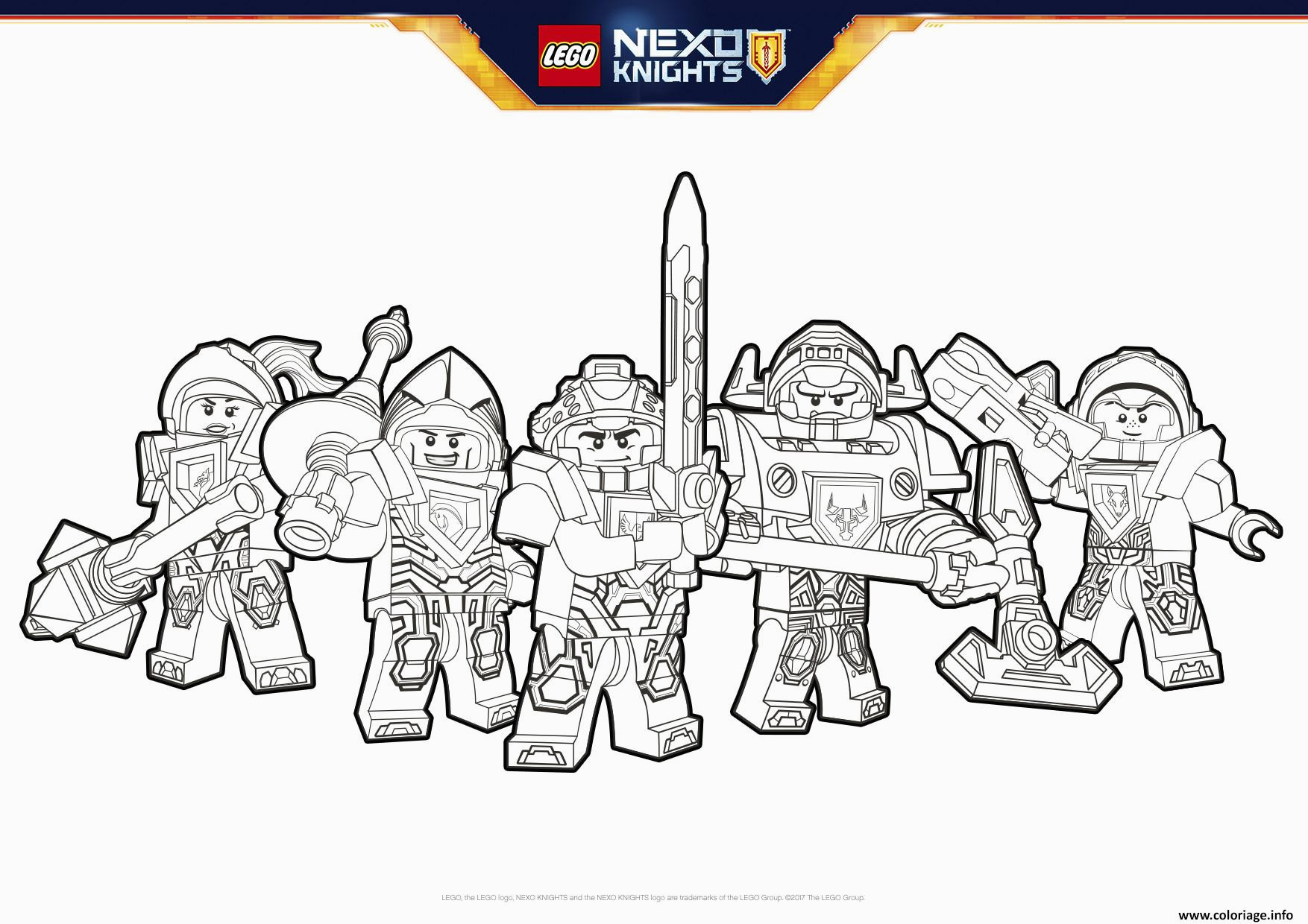 lego nexo knights formation coloriage