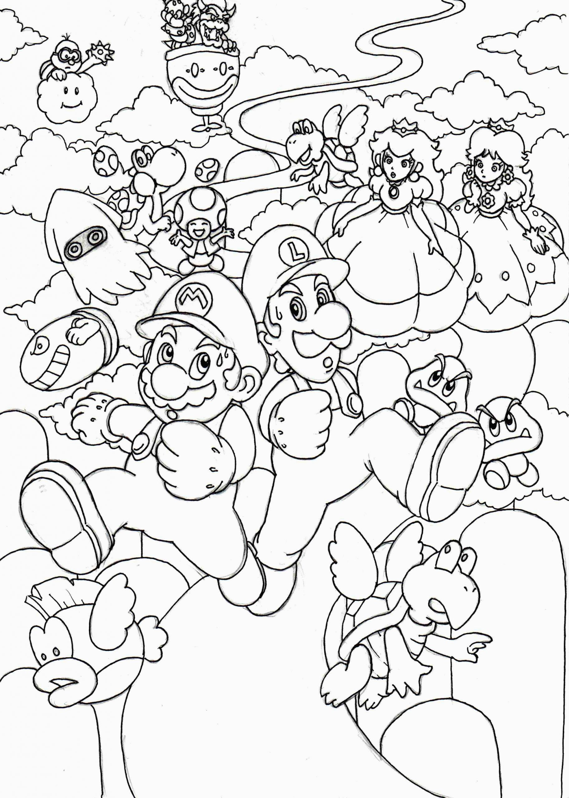 Coloriage Mario 3d World Super Mario 3d World Coloring Pages at Getcolorings