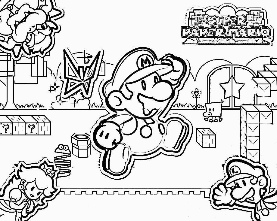 super mario 3d world coloring pages sketch templates