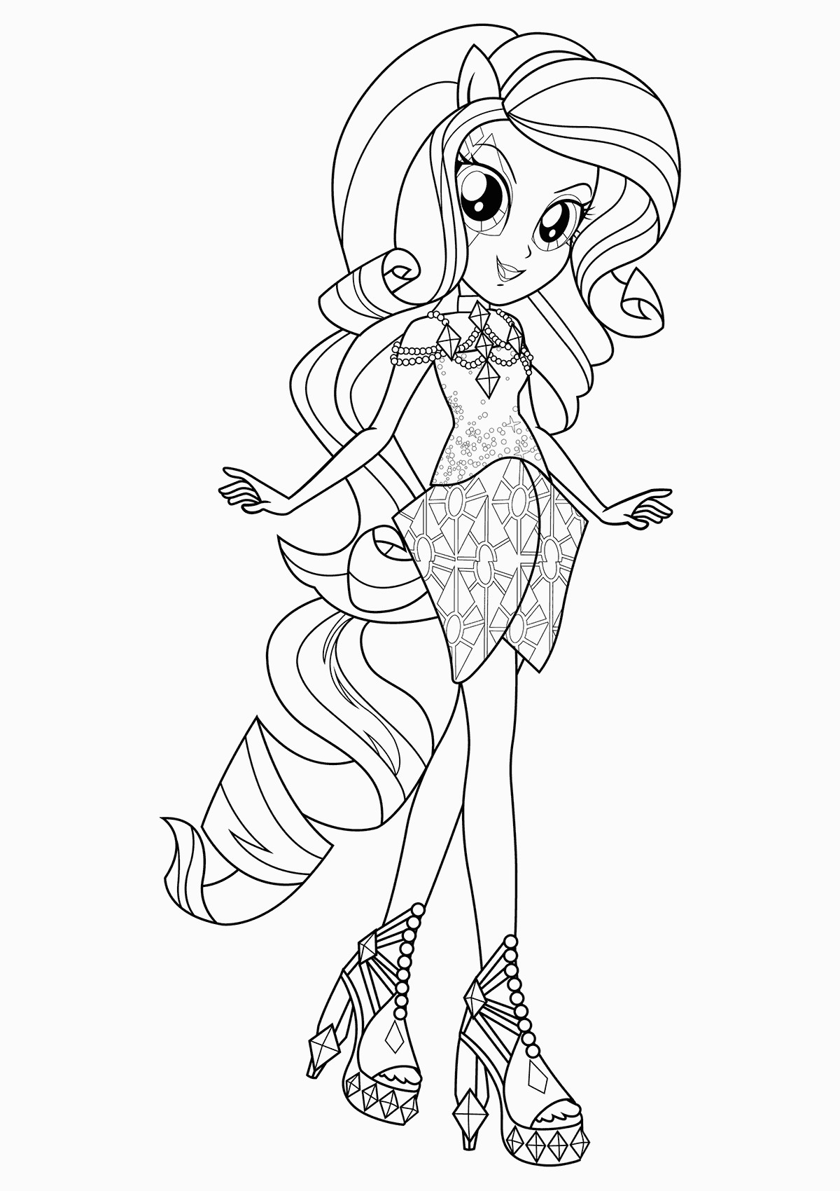 Coloriage My Little Pony Equestria Girl à Imprimer Equestria Girls Coloring Pages Best Coloring Pages for Kids