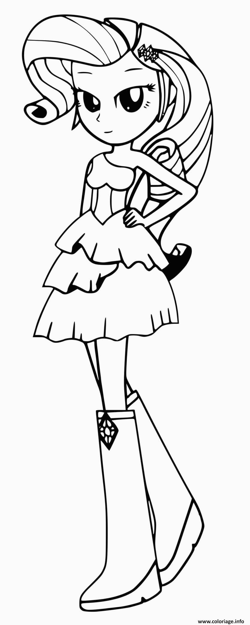 Coloriage My Little Pony Equestria Girl Rarity Coloriage My Little Pony Equestria Girls Rarity